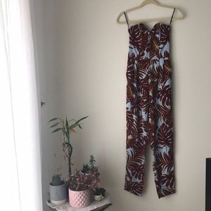 Tropical Print Strapless Jumper from H&M